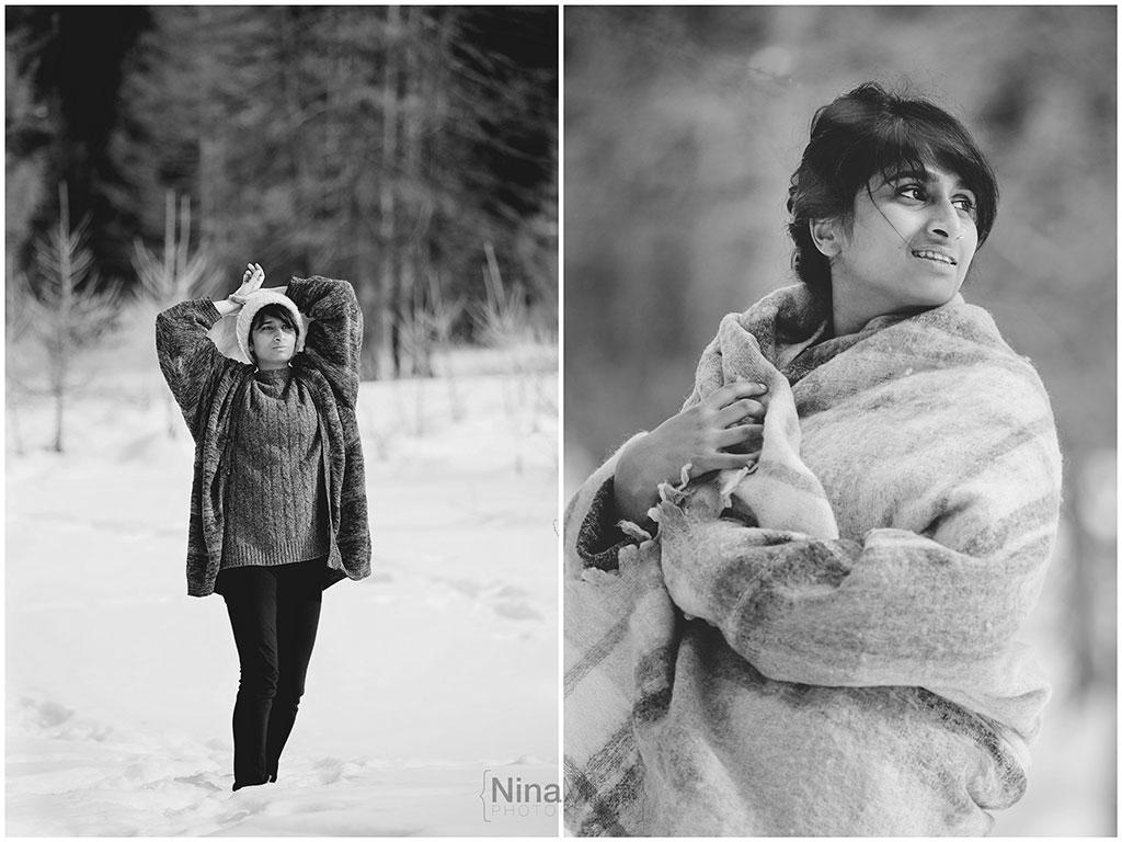 fotografo ritratti torino italy sauze d'oulx snow neve nina milani photography portrait fashion flower garland (5)
